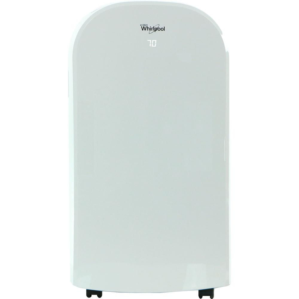Whirlpool 12000 BTU (6400 BTU DOE) Portable Air Conditioner with Dehumidifier and Remote in White