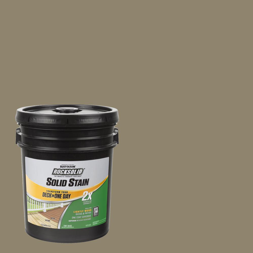 Rust-Oleum RockSolid 5 gal. River Rock Exterior 2X Solid Stain