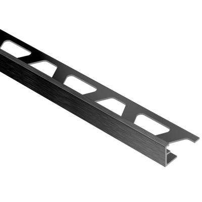Jolly Brushed Graphite Anodized Aluminum 1/4 in. x 8 ft. 2-1/2 in. Metal Tile Edging Trim