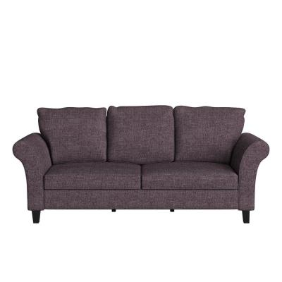 Brickman 82.9 in. Amethyst Purple Fabric 2-Seater Lawson Sofa with Removable Cushions