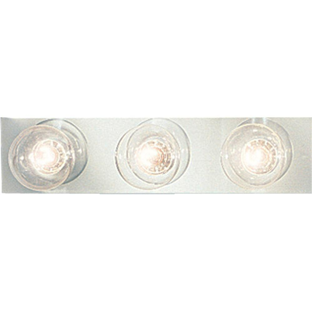Progress Lighting Broadway Collection 3-Light Chrome Vanity Fixture