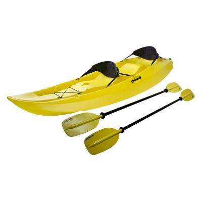 Manta Kayak with Paddles and Backrest - Yellow