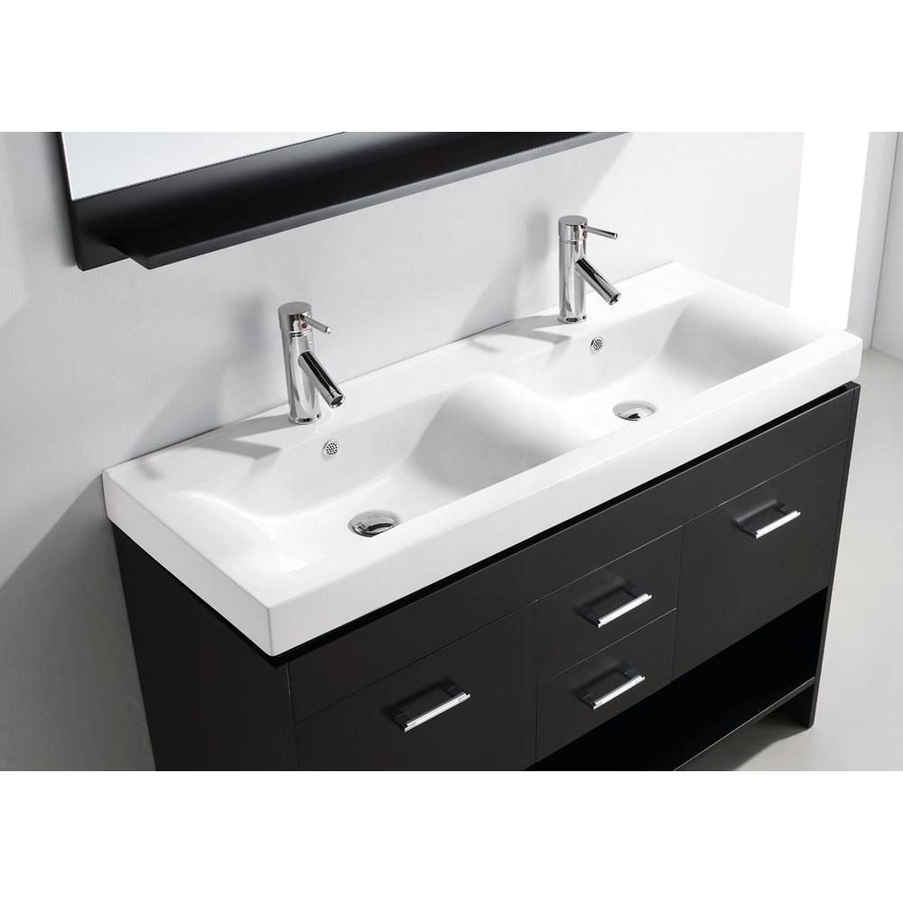 Virtu Usa Gloria 48 In W Bath Vanity In Espresso With Ceramic