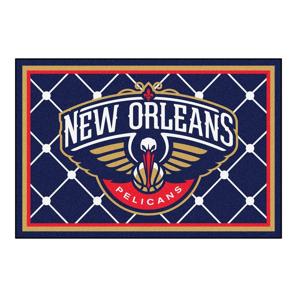 Fanmats nba new orleans blue 5 pelicans 5 ft x 8 pelicans for Floor depot new orleans
