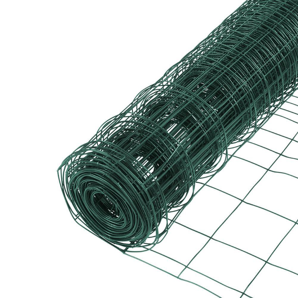 2.3 ft. x 50 ft. PVC Rabbit Guard Garden Fence Welded Wire