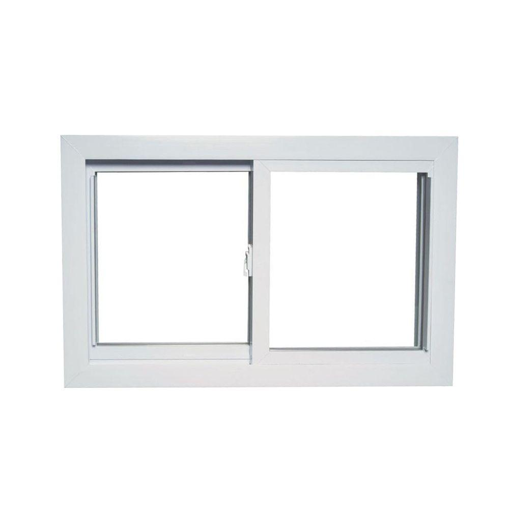 31 in. x 17 in. 70 Series Universal/Reversible Sliding White Vinyl