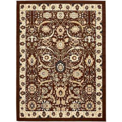 Isfahan Brown 10 ft. x 13 ft. Area Rug