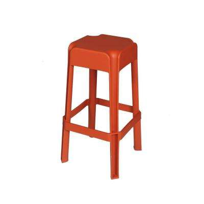 Polypropylene Burnt Orange Patio Bar Stool