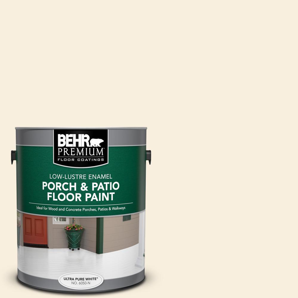 Behr Premium 1 Gal 370c 1 Lemon Pearl Low Lustre Enamel Interior Exterior Porch And Patio Floor Paint 605001 The Home Depot