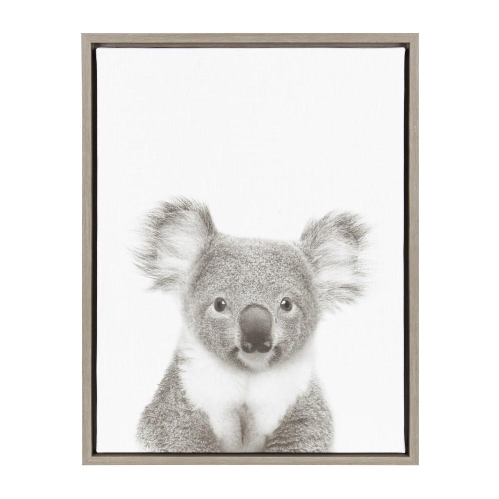 """24 in. x 18 in. """"Koala II"""" by Tai Prints Framed Canvas Wall Art"""