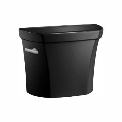 Wellworth 1.28 GPF Single Flush Toilet Tank Only in Black Black