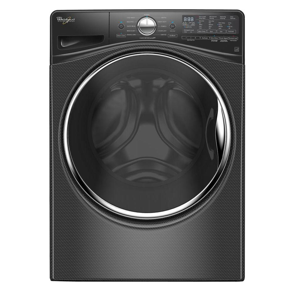 B C Washer ~ Whirlpool cu ft high efficiency stackable black