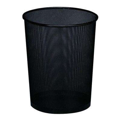 Expressions 4.5 Gal. Black Round Mesh Trash Can