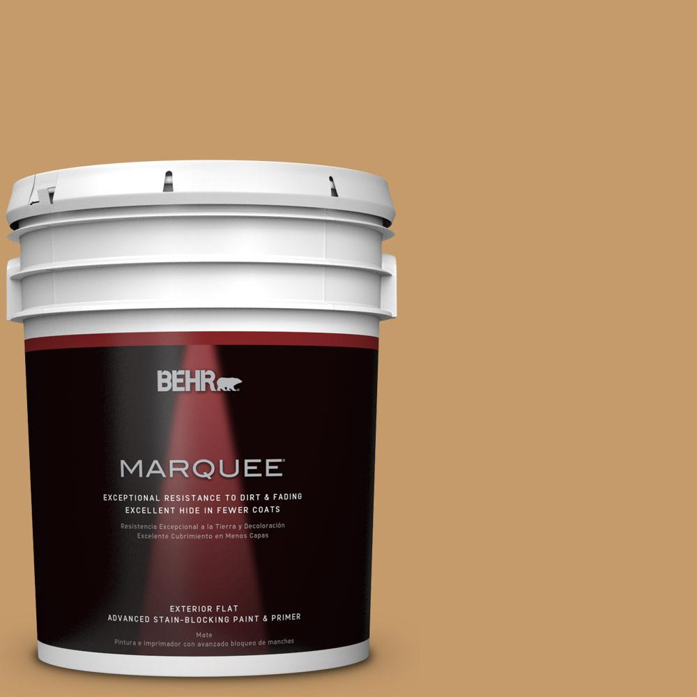 BEHR MARQUEE 5-gal. #S290-5 Amber Autumn Flat Exterior Paint