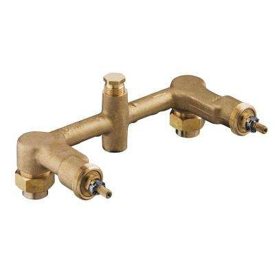 Wall-Mount 2-Handle Valve System for 8 in. Centers
