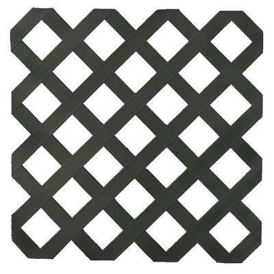 0.16 in. x 48 in. x 8 ft. Black Garden Plastic Lattice