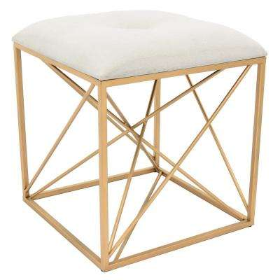 15.5 in. x 15.5 in. x 17.5 in. Gold Stool