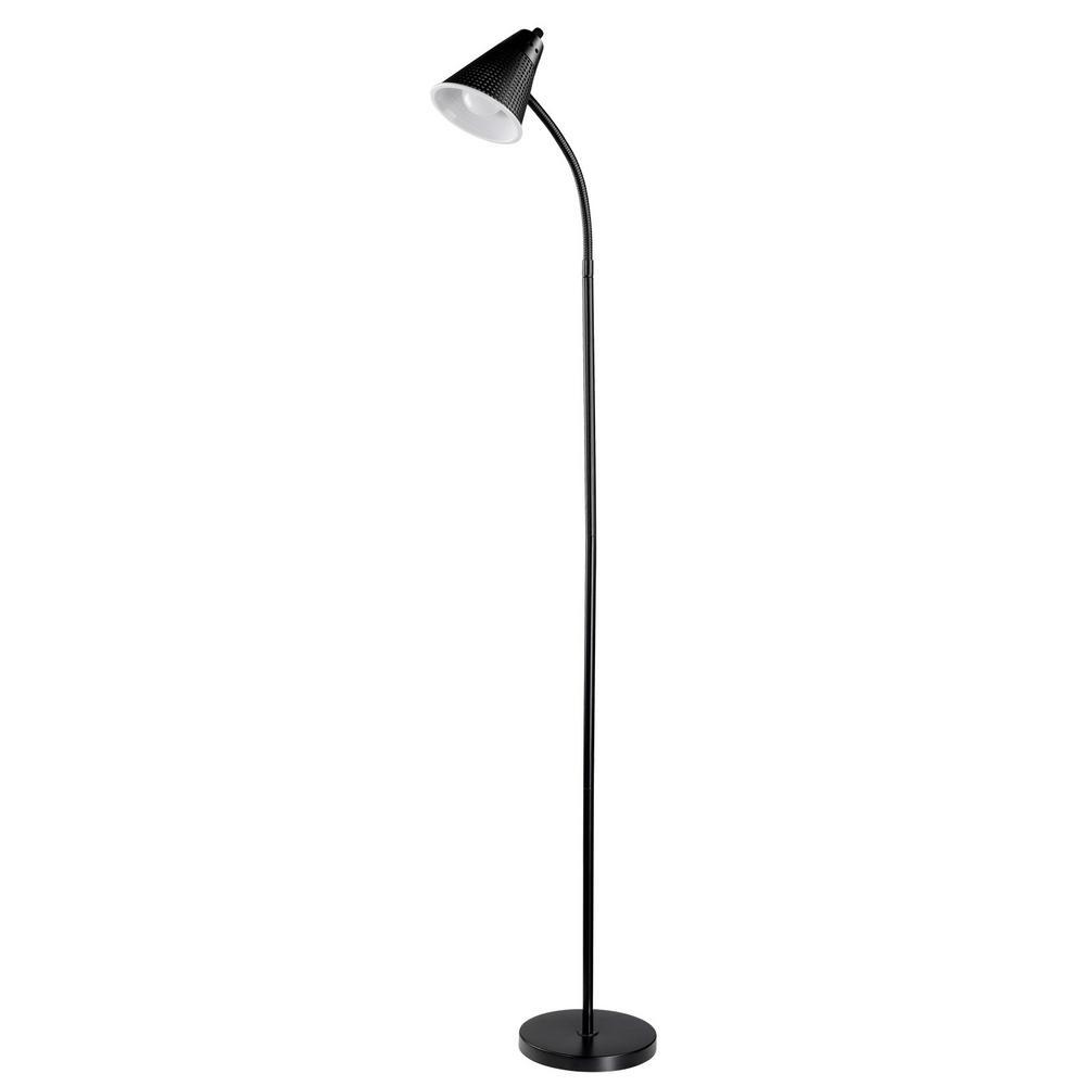 LED for Life 59 in. 1-Light Matte Black Floor Lamp