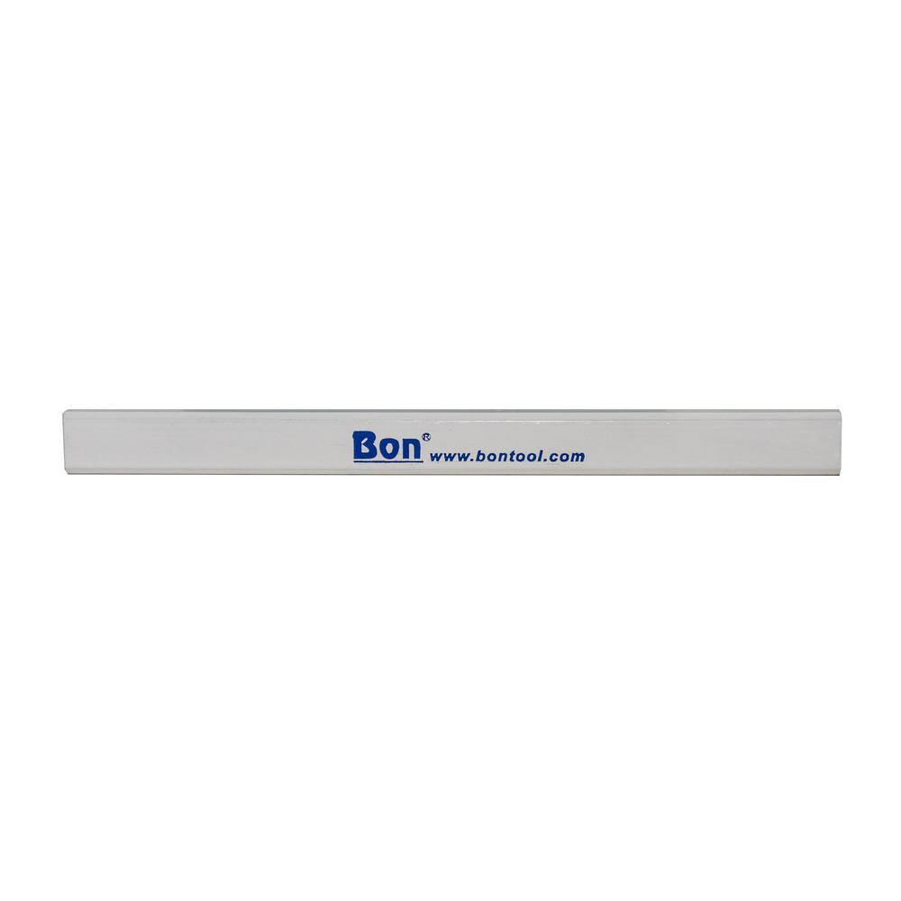 Bon Tool Carpenter Pencils in White Casing Medium Red Lead (12-Pack)