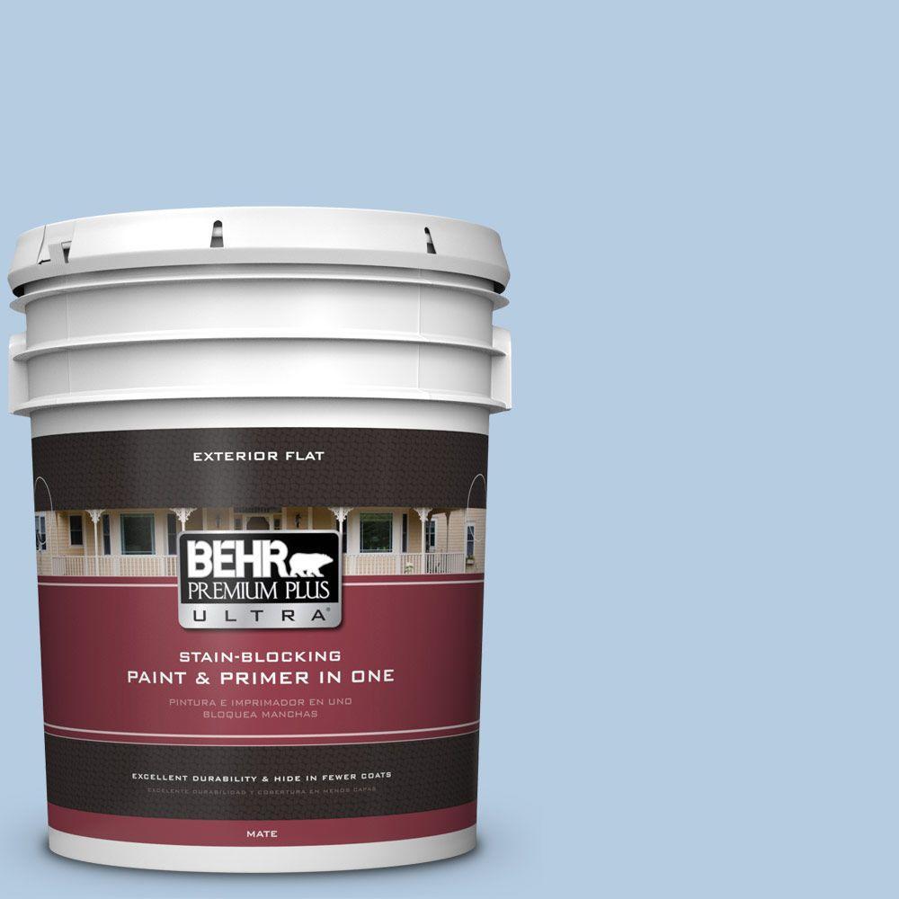 BEHR Premium Plus Ultra 5-gal. #PPU14-14 Crystal Waters Flat Exterior Paint