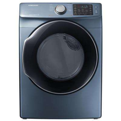7.5 cu. ft. Gas Dryer with Steam in Azure, ENERGY STAR