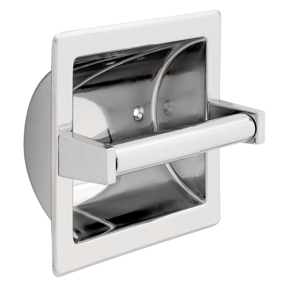 Franklin Brass Recessed Toilet Paper Holder With Metal