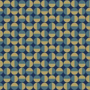 57.8 sq. ft. Vertigo Teal Geometric Wallpaper