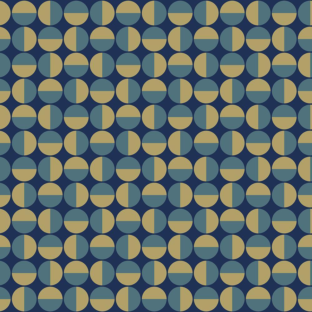 57.8 sq. ft. Vertigo Teal Geometric Wallpaper