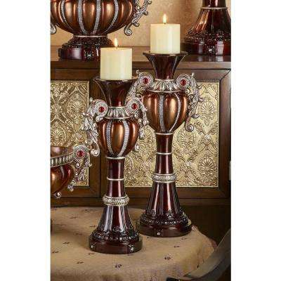 Delicata Bronze Candle Holder (Set of 2)