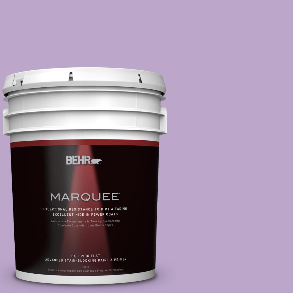 BEHR MARQUEE 5-gal. #M570-4 Cyber Grape Flat Exterior Paint