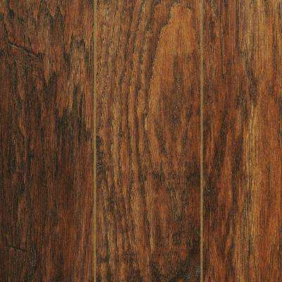 Hand-Scraped Medium Hickory 12 mm Thick x 5-9/32 in. Wide x 47-17/32 in. Length Laminate Flooring (12.19 sq. ft. / case)