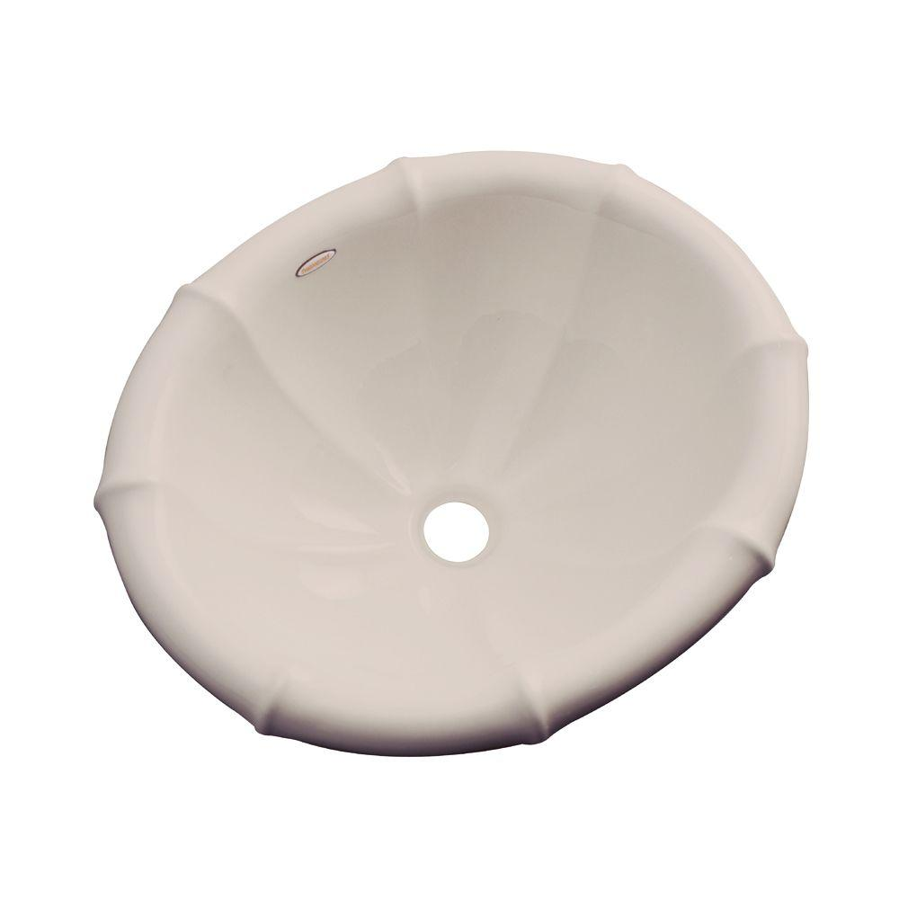 Thermocast Sea Palm Drop-In Bathroom Sink in Shell