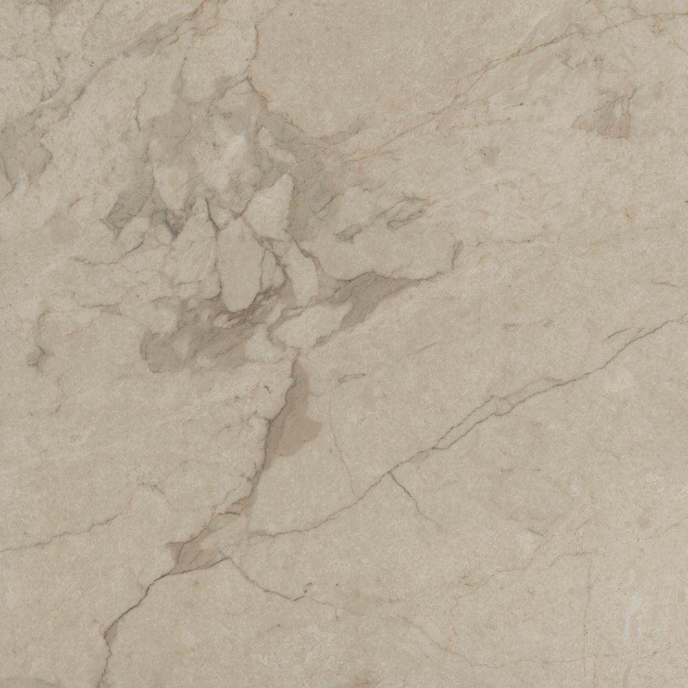 TrafficMASTER Take Home Sample - Allure Ultra Tile Carrara Oyster Resilient Vinyl Flooring - 4 in. x 4 in.