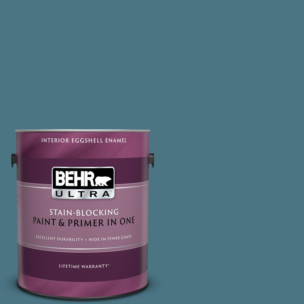Behr Ultra 1 Gal 530f 6 Heron Eggshell Enamel Interior Paint And Primer In One 275301 The Home Depot