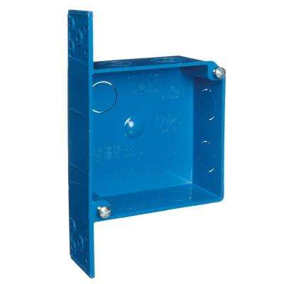 2-Gang 20 cu. in. Blue ENT Switch and Outlet Box
