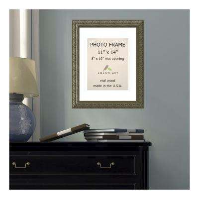 Barcelona 8 in. x 10 in. White Matted Gold Champagne Picture Frame