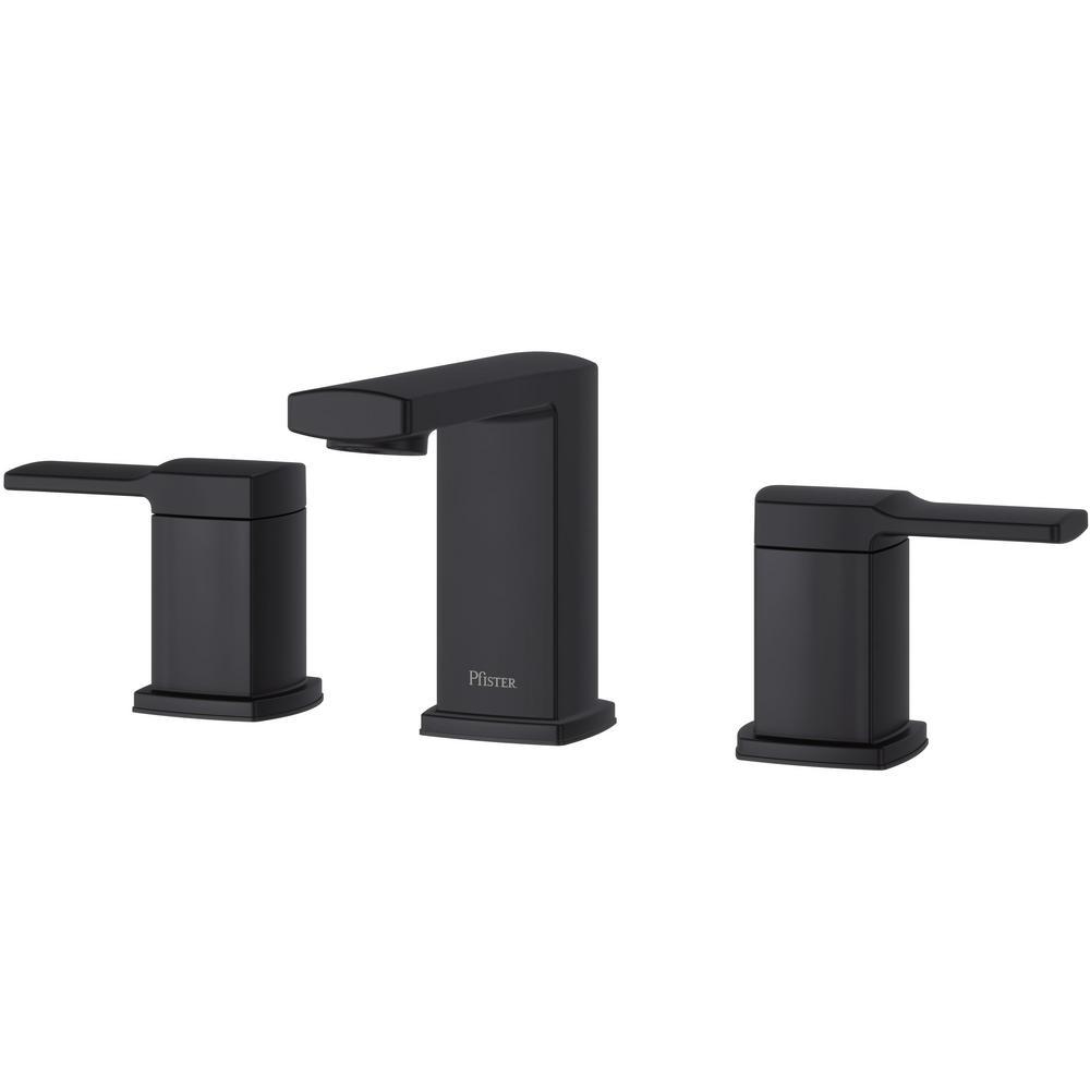 Deckard 8 in. Widespread 2-Handle Bathroom Faucet in Matte Black