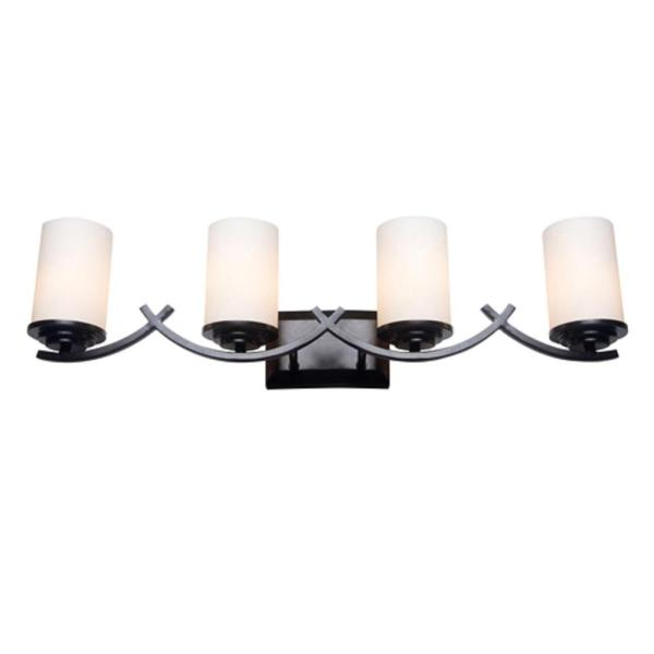 Brina 4-Light Oil-Rubbed Bronze Bath Vanity Light