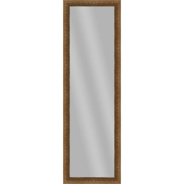 Large Rectangle Dark Gold Art Deco Mirror (51.875 in. H x 15.875 in. W)