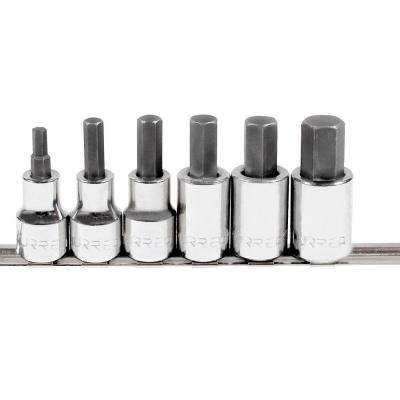 1/2 in. Drive Metric Hex Tip Socket Set (6-Piece)