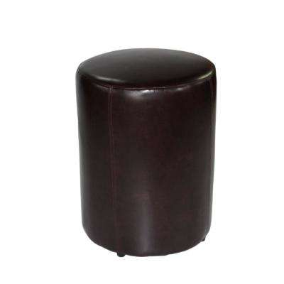 Tyler 23 in. Chocolate Leather Round Stool