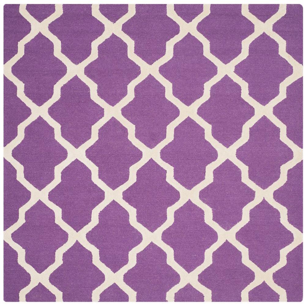Safavieh Cambridge Purple Ivory 6 Ft X 6 Ft Square Area