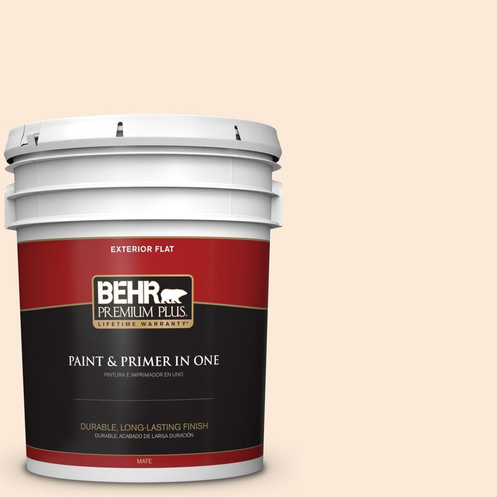 BEHR Premium Plus 5-gal. #270A-1 Peach Fade Flat Exterior Paint