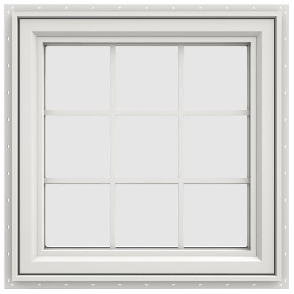 29.5 in. x 29.5 in. V-4500 Series Right-Hand Casement Vinyl Window