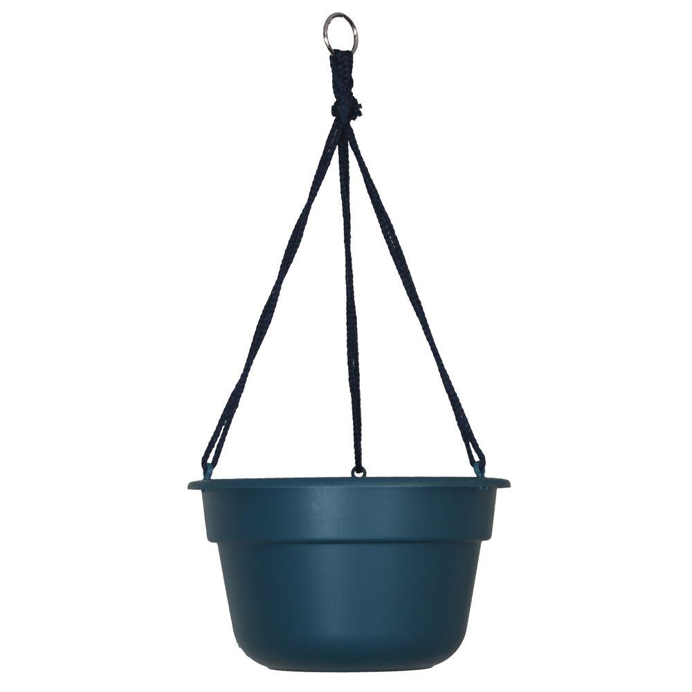 Bloem 12 in. Turbulent Dura Cotta Plastic Hanging Basket