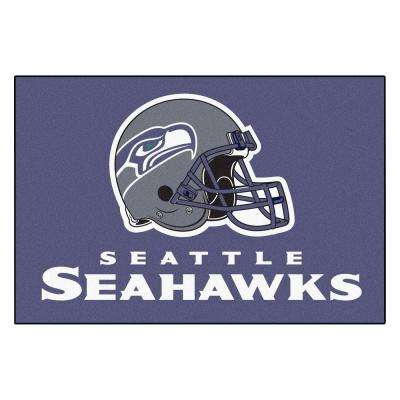 Seattle Seahawks 19 in. x 30 in. Accent Rug