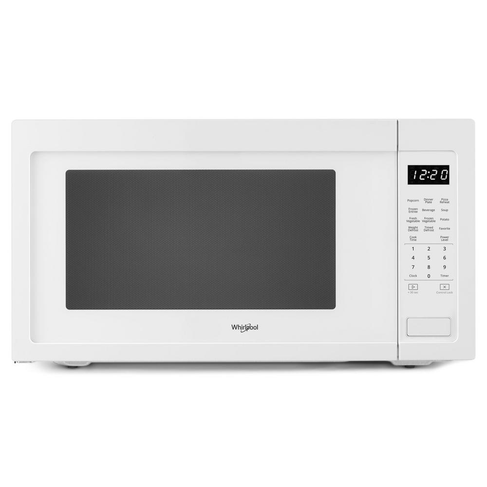 Whirlpool 2 Cu Ft Countertop Microwave In White With Greater Capacity