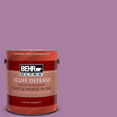 1 gal. #M110-5 Amazonian Orchid Extra Durable Flat Interior Paint and Primer in One