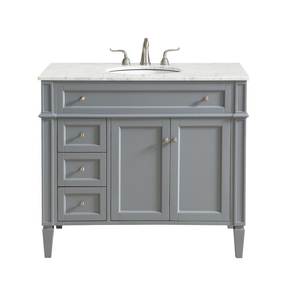 Prime Nanticoke 40 In Single Bath Vanity W 3 Drawers 1 Shelf 2 Doors Marble Top Porcelain Sink Grey Download Free Architecture Designs Rallybritishbridgeorg