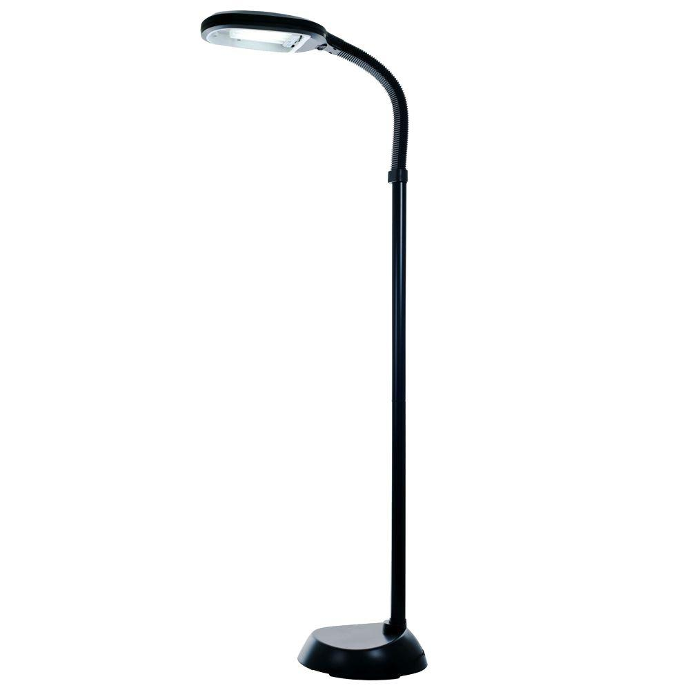 Trademark home deluxe sunlight 55 in black floor lamp 72 0890 trademark home deluxe sunlight 55 in black floor lamp 72 0890 the home depot mozeypictures Images